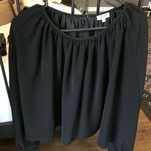 Kenzo cape like black blouse